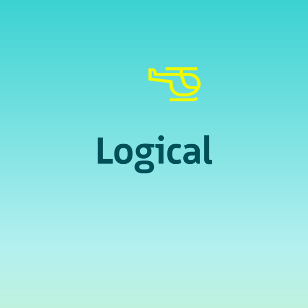 Logical - a coherent humanist sans featuring a variety of icons.