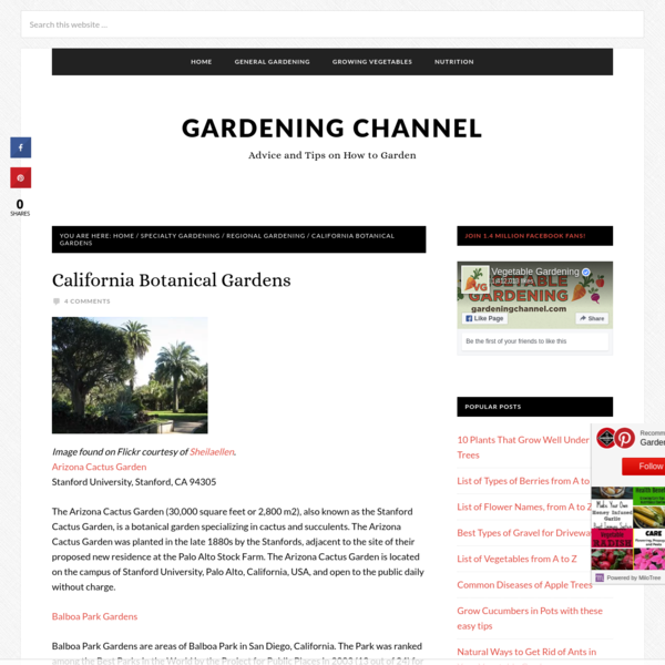 California Botanical Gardens - Gardening Channel