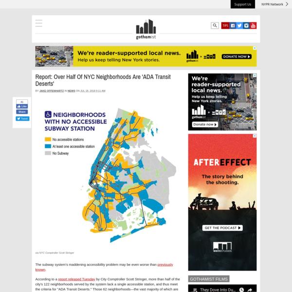 Report: Over Half Of NYC Neighborhoods Are 'ADA Transit Deserts'