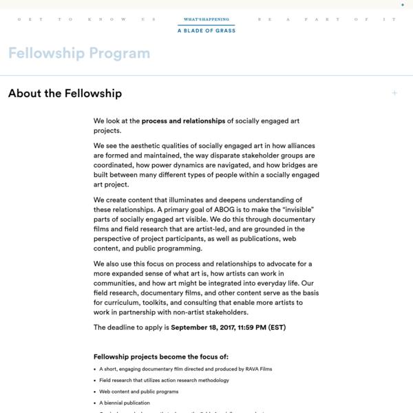 Fellowship Program - A Blade of Grass