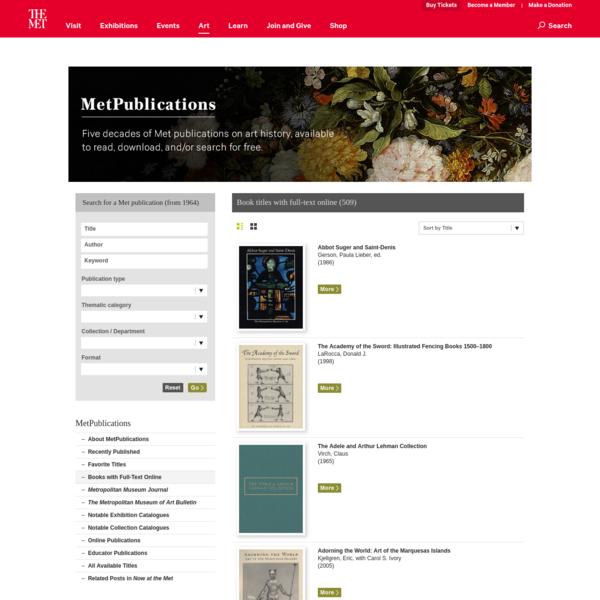 Download full art books from met