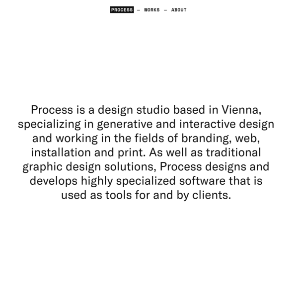 Process - for Art and Design