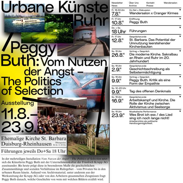 Urbane Künste Ruhr ist eine vielgestaltige, dezentrale Institution für Gegenwartskunst im Ruhrgebiet. Sie initiiert Projekte im öffentlichen Raum, Ausstellungen, Residenz-Programme und Veranstaltungen, oft in Zusammenarbeit mit lokalen und internationalen Kooperationspartnern.