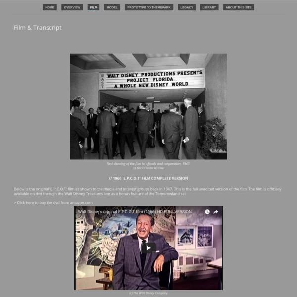 Film & Transcript - The Original E.P.C.O.T
