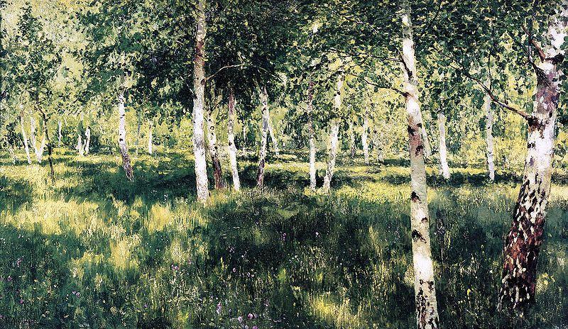 Isaak Levitan - Birch Forest, 1885-1889