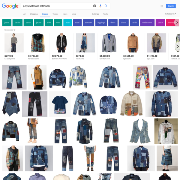 junya watanabe patchwork - Google Search