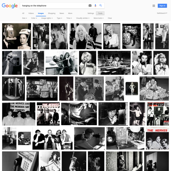 hanging on the telephone - Google Search