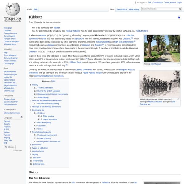 Kibbutz - Wikipedia