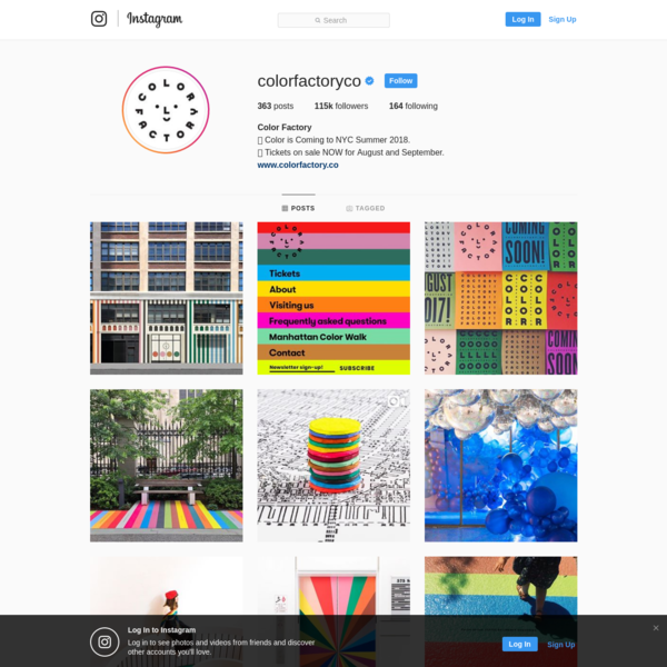 115.2k Followers, 164 Following, 363 Posts - See Instagram photos and videos from Color Factory (@colorfactoryco)