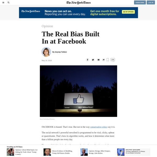 Opinion | The Real Bias Built In at Facebook