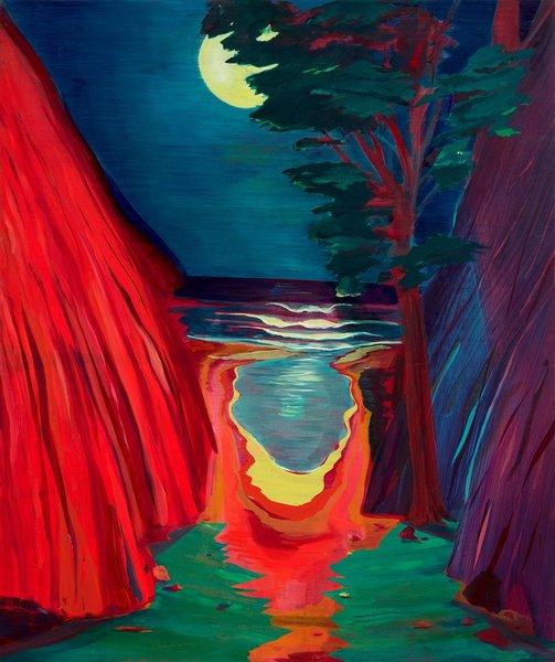 Jules de Balincourt , Night Moves, 2016. https://t.co/4UdZWlmOeL
