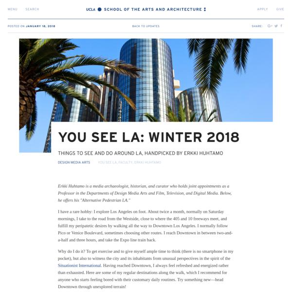 You See LA: Winter 2018 | UCLA Arts