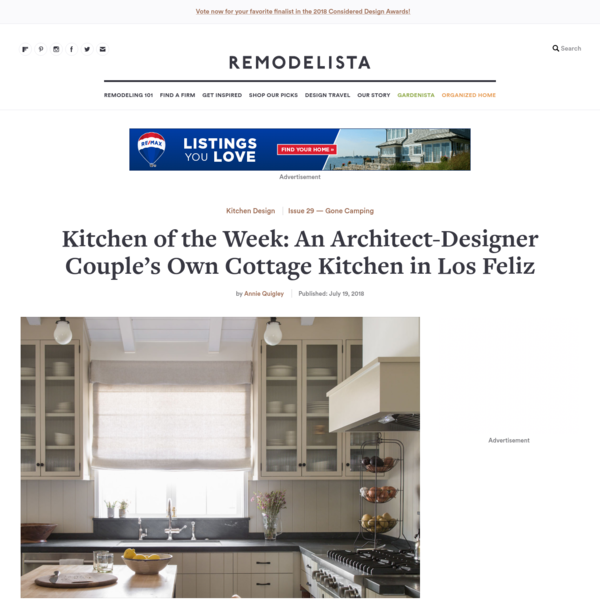 """The latest kitchen on our radar: a young architect/designer couple's own remodel in the Los Feliz neighborhood of Los Angeles. """"The attached photos are of"""