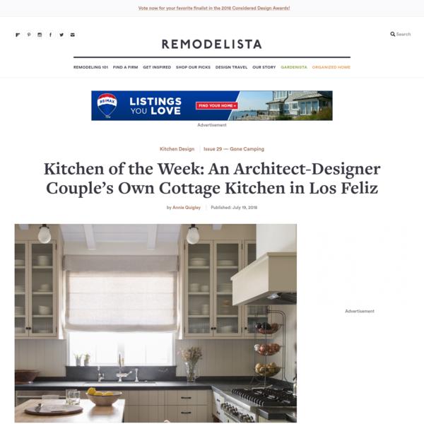 Kitchen of the Week: An Architect-Designer Couple's Own Cottage Kitchen in Los Feliz - Remodelista