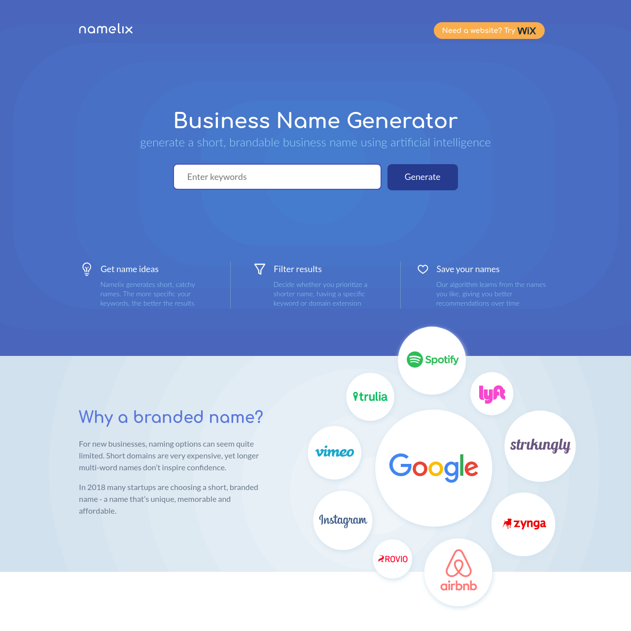 Arena Business Name Generator Free Ai Powered Naming Tool Namelix