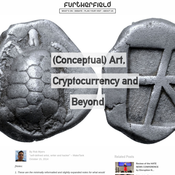 (Conceptual) Art, Cryptocurrency and Beyond - Furtherfield
