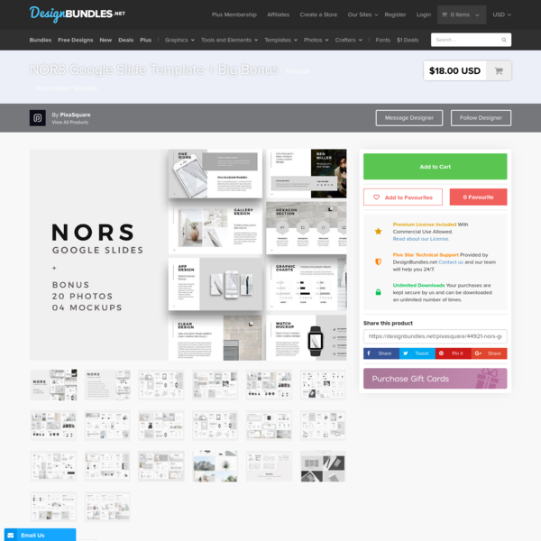 NORS Google Slide Template + Big Bonus | Design Bundles