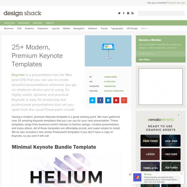 25+ Modern, Premium Keynote Templates | Design Shack