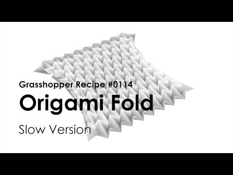 [Grasshopper Tutorial] 0114 Origami Fold using Kangaroo 2 (Slow ver.)