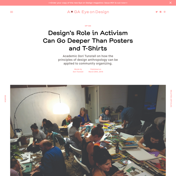 """We first read this piece, written by Dori Tunstall, the dean of design at OCAD University in Toronto, in a publication produced by the L.A.-based non-profit Women's Center for Creative Work (which we wrote about for the site). Originally titled """"Seven Principles of Designing Conditions for Community"""