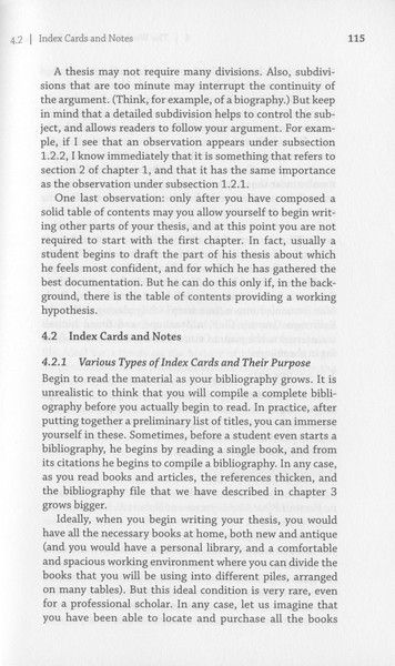 """Eco, Umberto, """"Index Cards and Notes"""", _How to Write a Thesis_ [1977] (Cambridge: MIT Press, 2015), pp. 115–23."""