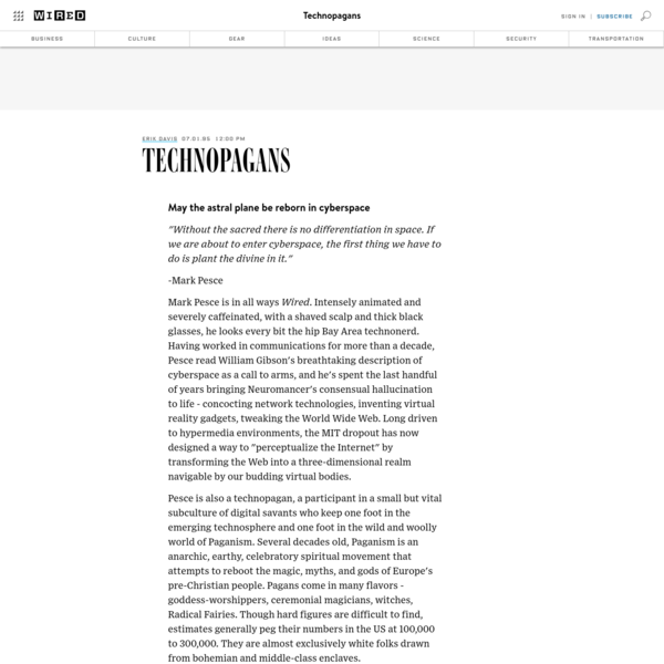 Technopagans