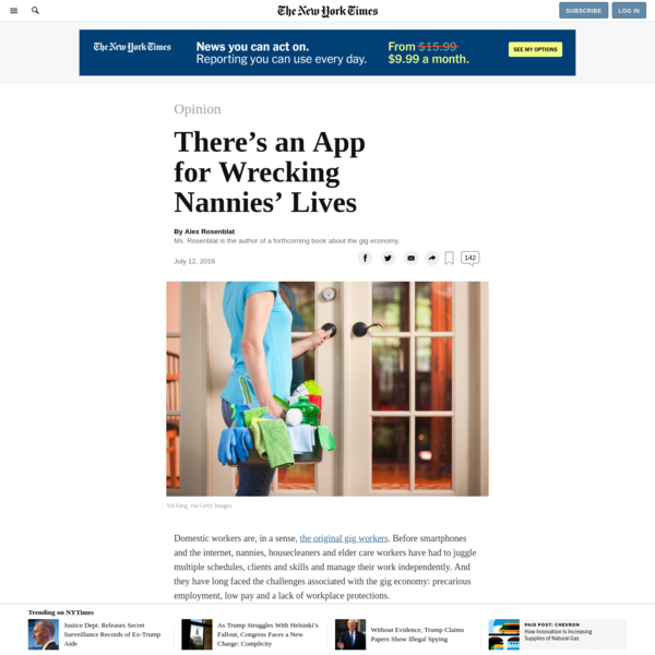 Opinion   There's an App for Wrecking Nannies' Lives