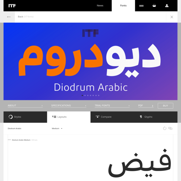 Diodrum Arabic layouts | Indian Type Foundry