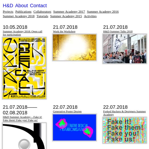 Summer Academy 2018 * H&D