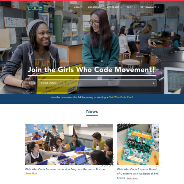 Girls Who Code -- Join 90,000 Girls Who Code today!