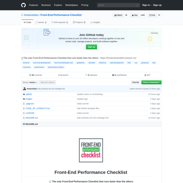 Front-End-Performance-Checklist - 🎮The only Front-End Performance Checklist that runs faster than the others
