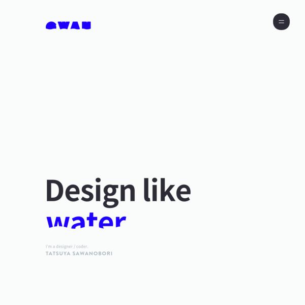ウェブサイトやスマホアプリのデザインを行う、デザイナー沢登達也のポートフォリオサイト
