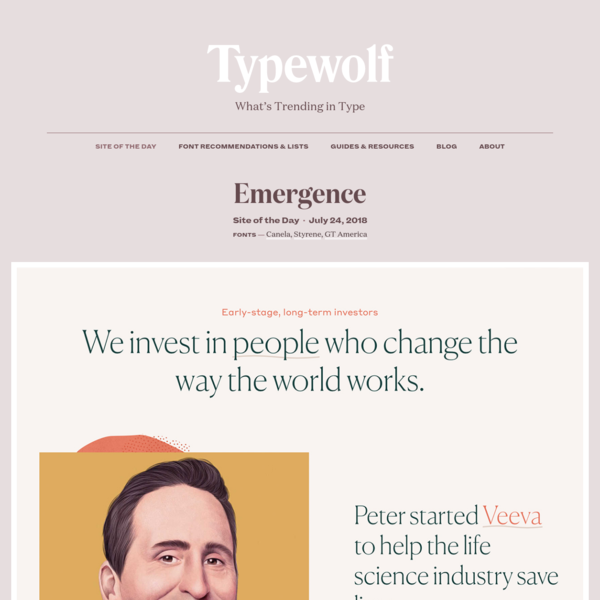 Typewolf Site of the Day for July 24, 2018.