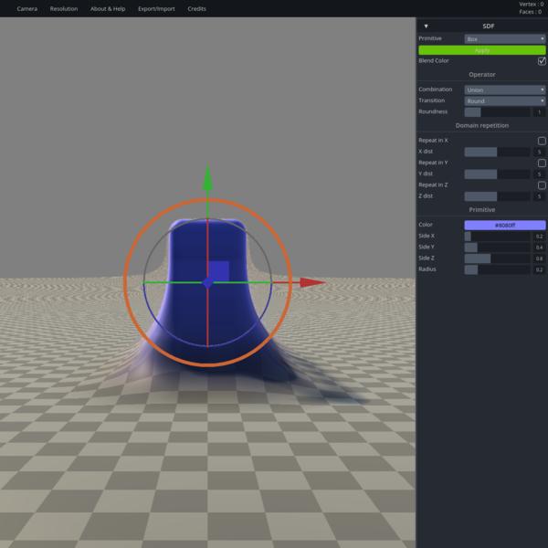 SculptGL is a small sculpting application powered by JavaScript and webGL.