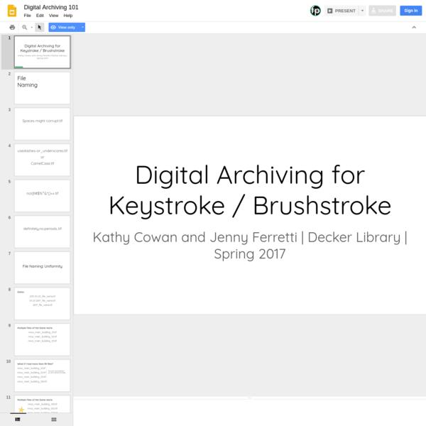 Digital Archiving 101