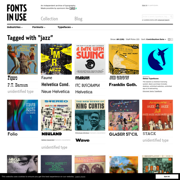 jazz - Fonts In Use