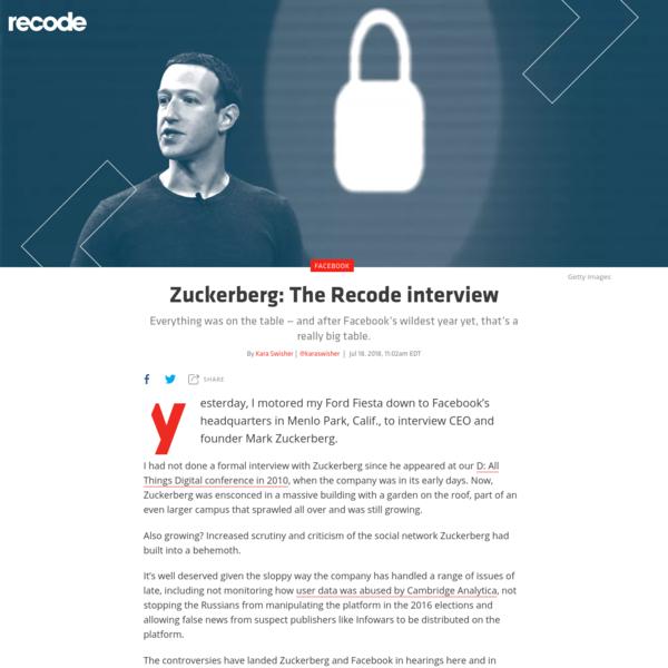 Zuckerberg: The Recode interview