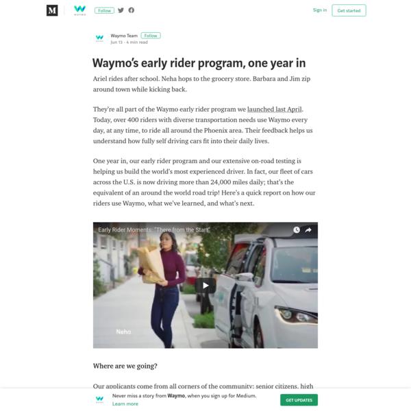 Waymo's early rider program, one year in - Waymo - Medium