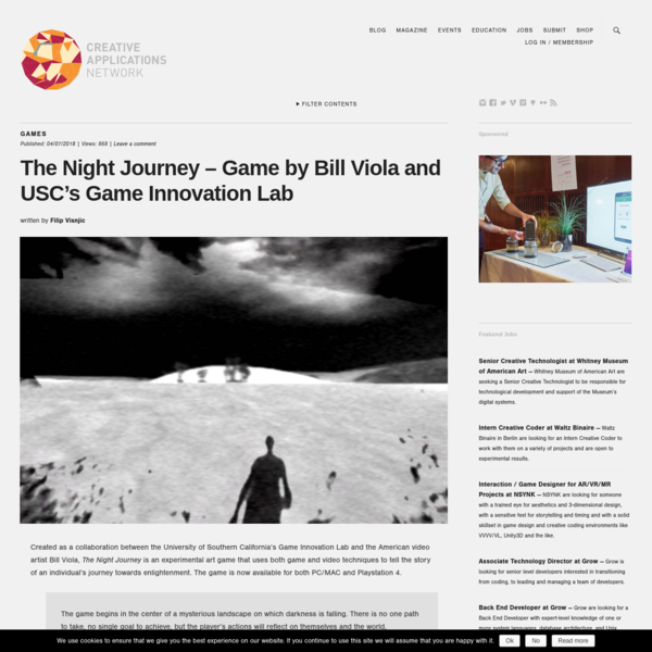 The Night Journey - Game by Bill Viola and USC's Game Innovation Lab