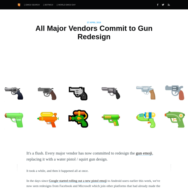 All Major Vendors Commit to Gun Redesign