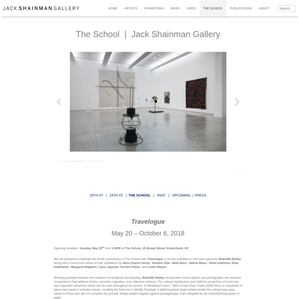 """The School"" is a 30,000 sq. ft. Jack Shainman Gallery exhibition space in Kinderhook, NY."