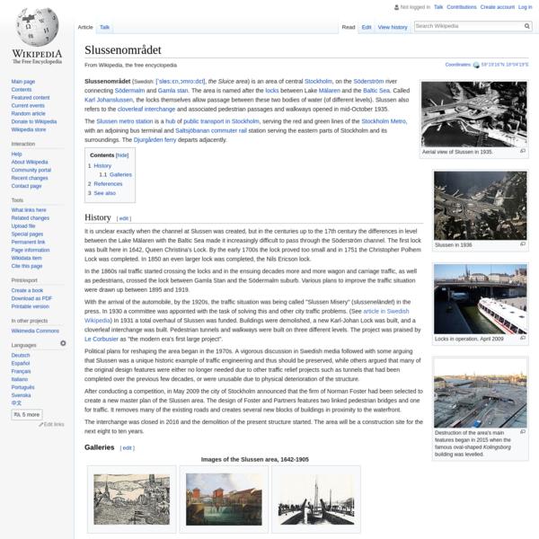 Slussenområdet - Wikipedia