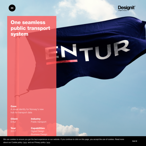 A visual identity for Norway's new hub for transport data - Designit