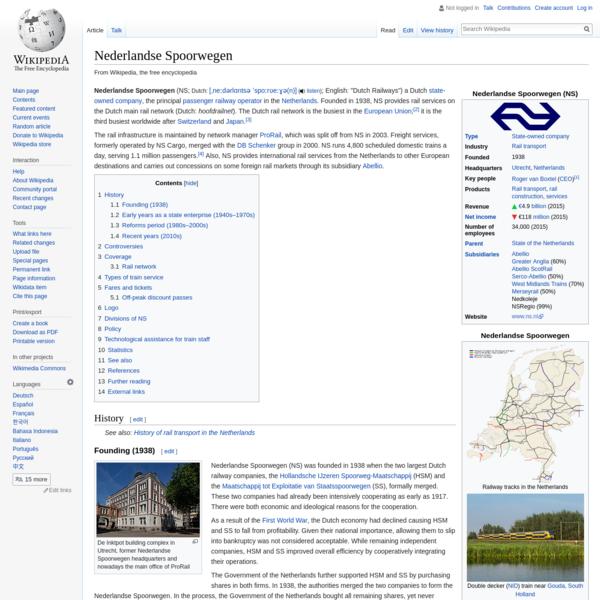 Nederlandse Spoorwegen - Wikipedia