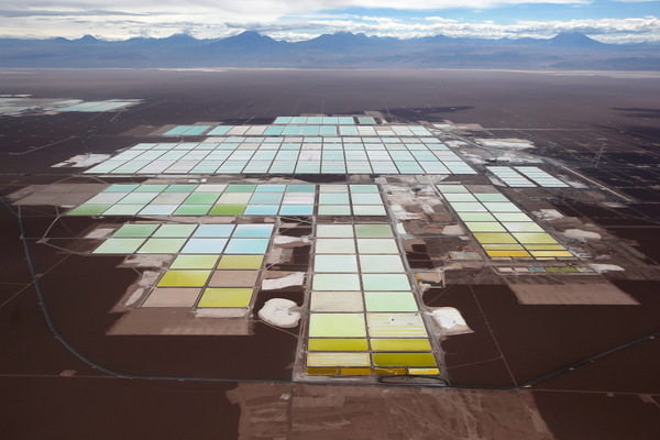 Brine pools for Lithium processing