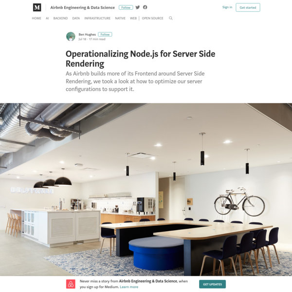 Operationalizing Node.js for Server Side Rendering - Airbnb Engineering & Data Science - Medium
