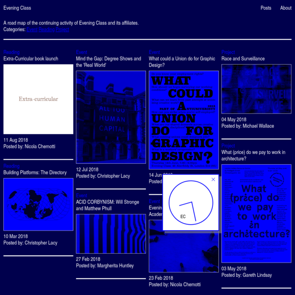 Evening Class is a self-organising design experiment in London.