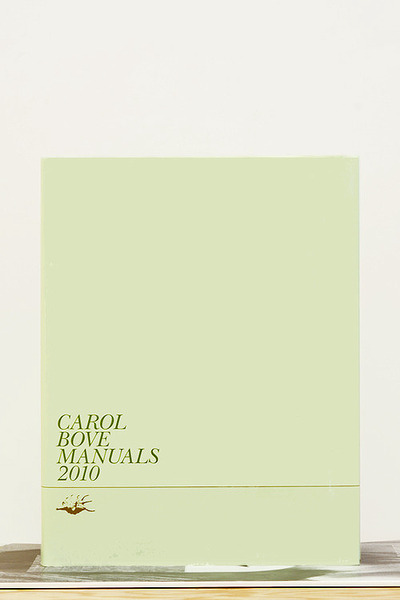 Publications, Charles Harlan, Carol Bove Manuals 2010, 2013