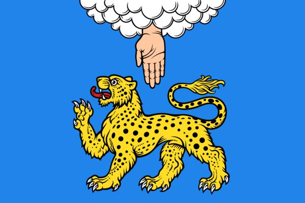 Flag of Pskov, Pskov Oblast, Russia