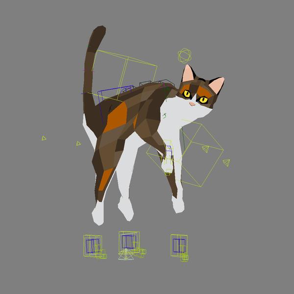 Nick Preston cat illustration for shot video game